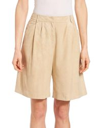 Lafayette 148 New York - Suede Clarkson Shorts - Lyst