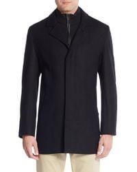 Cole Haan - Solid Wool-blend Coat - Lyst