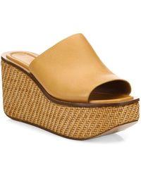 Michael Kors - Jane Leather Wedge Platform Sandals - Lyst
