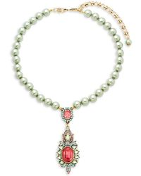 Heidi Daus - Crystal Oval Drop Necklace - Lyst