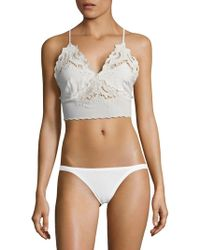 Free People - Floral Cut-out Bralette - Lyst