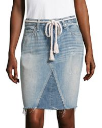 AMO - Jules Patched Self-tie Skirt - Lyst