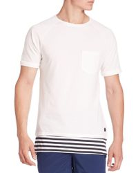 Madison Supply - Elongated Bicolor Tee - Lyst