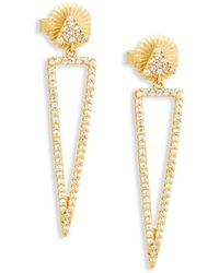 Freida Rothman - Pavé Crystal And Sterling Silver Drop Earrings - Lyst