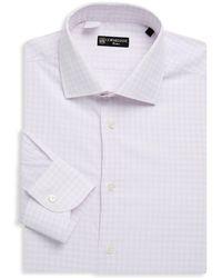 Corneliani - Checkered Cotton Dress Shirt - Lyst