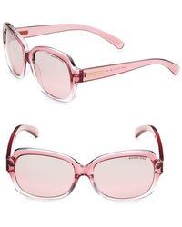 Michael Kors - Oval Rectangular Sunglasses - Lyst