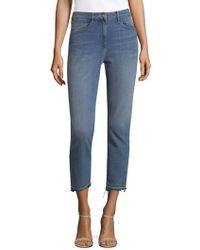 3x1 - Whiskered Crop Jeans - Lyst