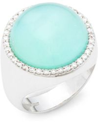 Roberto Coin - Pearl, Diamond, Agate And 18k White Gold Triplet Round Ring - Lyst