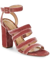 Charlotte Olympia - Block Heel Ankle Strap Sandals - Lyst