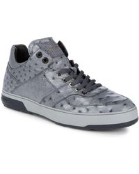 Ferragamo - Leather High-top Trainers - Lyst
