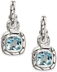 John Hardy - Kali Blue Topaz & Sterling Silver Drop Earrings - Lyst