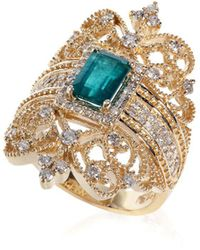 Effy - Brasilica Emerald & Diamond 14k Gold Ring - Lyst
