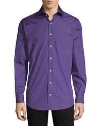 Peter Millar Pollock Button-front Shirt - Purple