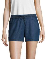 French Connection - Chambray Drawstring Shorts - Lyst