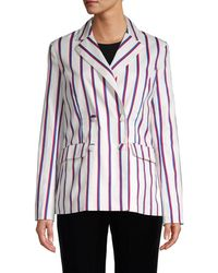 English Factory - Striped Double-breasted Blazer - Lyst