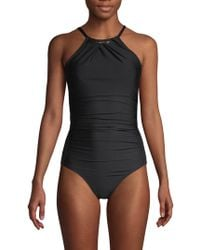 Calvin Klein - One-piece Ruched Swimsuit - Lyst