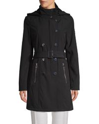 Calvin Klein - Hooded Double-breasted Coat - Lyst