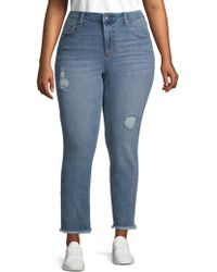 Max Studio - Plus High-rise Skinny Jeans - Lyst