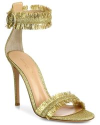 Gianvito Rossi - Caribe Tinsel Ankle-strap Sandals - Lyst