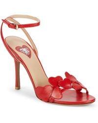 Valentino - Heart Leather Stiletto Sandals - Lyst