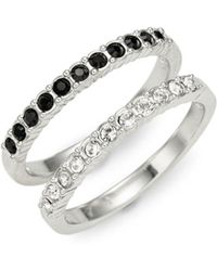 Swarovski - Crystal Double Band Ring - Lyst