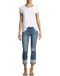 Mcguire - Ambrosio Gainsbourg Medium Wash Cropped Jeans - Lyst