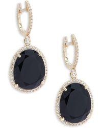 Effy - Diamond, Onyx & 14k Gold Drop Earrings - Lyst
