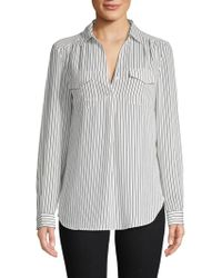 Philosophy By Republic - Striped Long-sleeve Top - Lyst