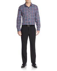 Jared Lang - Regular-fit Plaid Cotton Sportshirt - Lyst