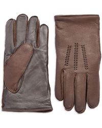 UGG - Wool Lined Touch Screen Leather Gloves - Lyst