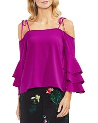 Vince Camuto - Tropic Heat Cold-shoulder Bell-sleeve Blouse - Lyst