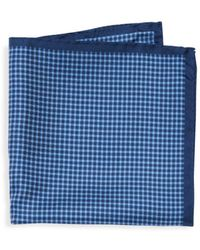 Saks Fifth Avenue - Chequered Silk Pocket Square - Lyst