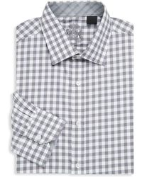 English Laundry - Chequered Cotton Dress Shirt - Lyst