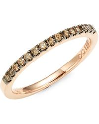 Effy - 14k Rose Gold & Champagne Diamond Band - Lyst