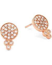 Freida Rothman - Crystal And Sterling Silver Stud Earrings - Lyst