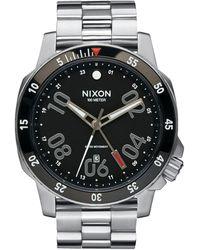 Nixon - Ranger Gmt Stainless Steel Watch - Lyst