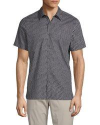 Perry Ellis - Printed Short-sleeve Shirt - Lyst