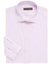 Hickey Freeman - Classic-fit Striped Dress Shirt - Lyst