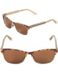 149d85dcfb7 Gucci - 53mm Rectangular Sunglasses - Lyst