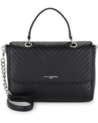 Karl Lagerfeld - Quilted Leather Satchel - Lyst