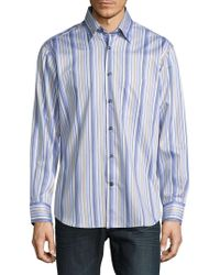 Robert Talbott - Casual Striped Cotton Sportshirt - Lyst