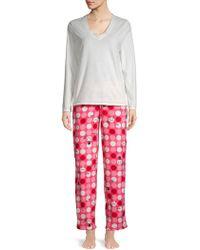 Hue - Two-piece Snowman Dot Pajama Set - Lyst