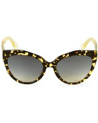 Balenciaga 52mm Tortoiseshell Cateye Sunglasses