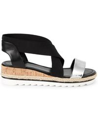 Nine West - Molly Crisscross Wedge Sandals - Lyst