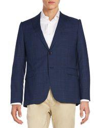 Armani   Plaid Wool Jacket   Lyst