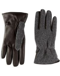 Saks Fifth Avenue - Slip-on Leather And Cashmere Gloves - Lyst