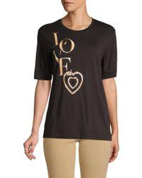 Love Moschino - Graphic Short-sleeve Tee - Lyst