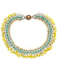 Tataborello - Beaded Collar Necklace - Lyst