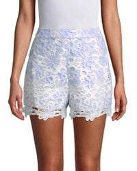 English Factory - Floral Embroidered Shorts - Lyst