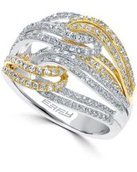 Effy - Diamond, 14k White Gold & Yellow Gold Ring - Lyst